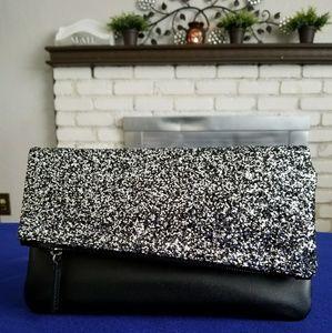 Glittery black purse